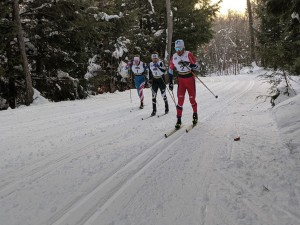 Ian Torchia, Kjetil Bånerud, and Zak Ketterson leading the men's 10k