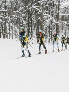 NMU skiers classic skiing some intervals this winter