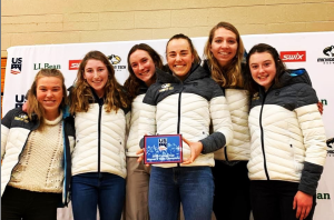The Tech Women winning the College Cup (Oda Hovland, Sarah Goble, Anabel Needham, Henriette Semb, Amanda Kautzer, Emma Albrechtt)