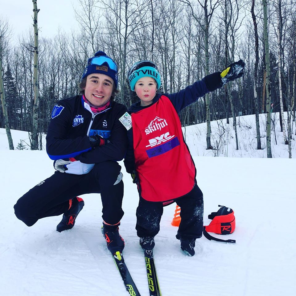 Working with the kids at the Duluth Center (CSS Ski team facebook page)