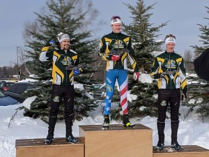 The Men's podium at PreNationals in Houghton