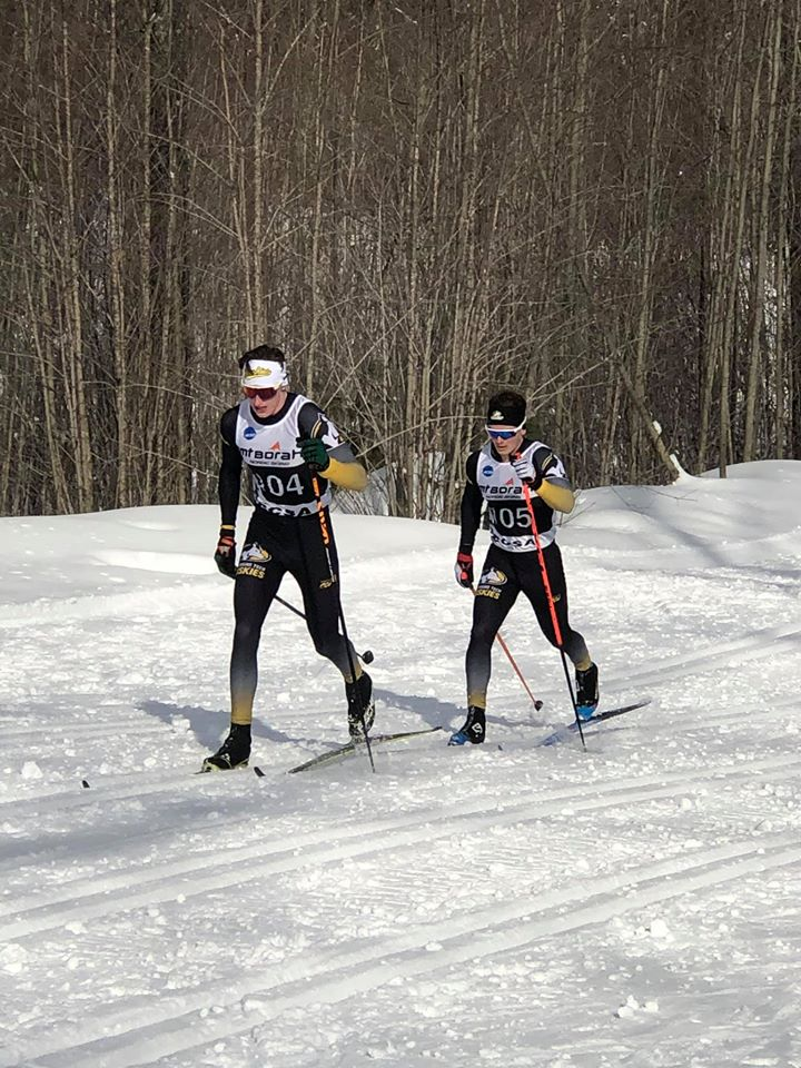 Goble and Acton in the men's 20k