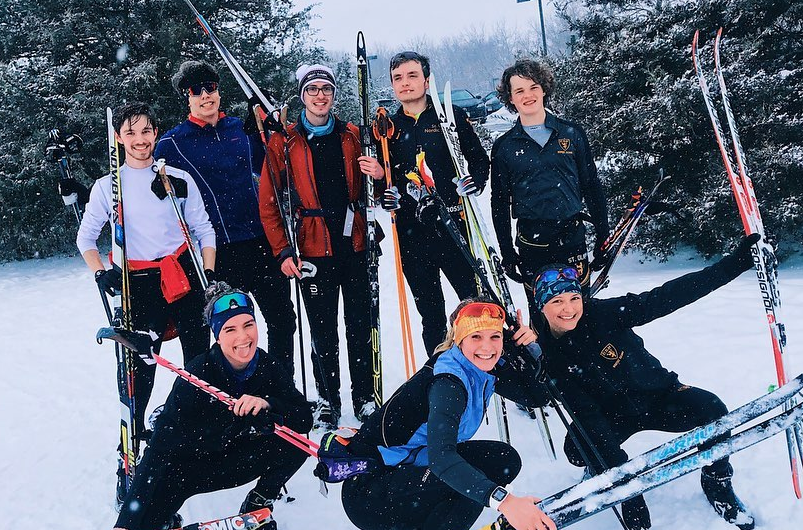 St Olaf team members after intervals earlier this winter